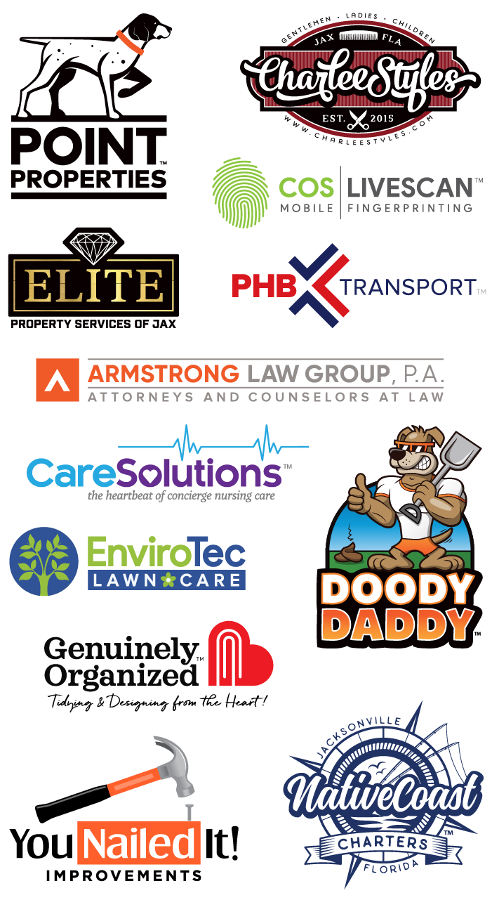 Local area businesses - logos designed by Max van Logo